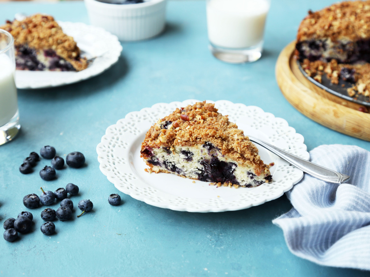 Tons of Blueberry Coffee Cake