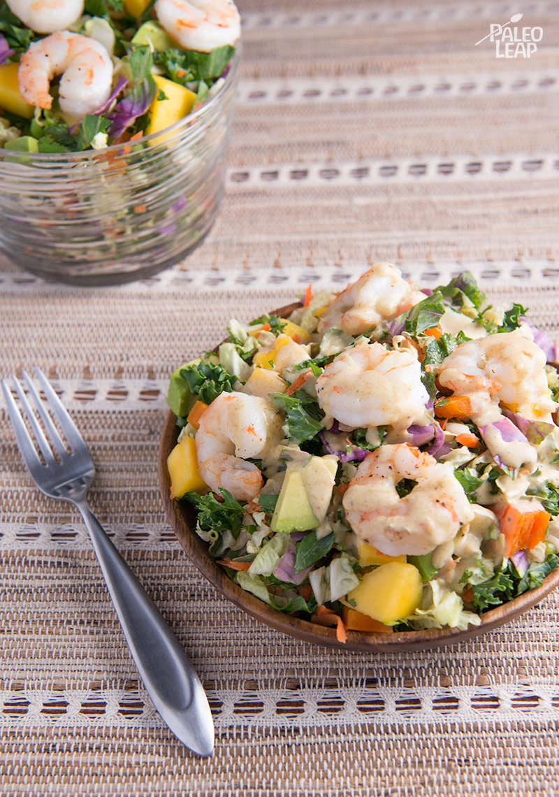 Chopped Salad with Shrimp and Curry Dressing